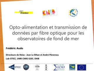 Frédéric Audo Directeurs de thèse : Jean Le Bihan et André Pérennou Lab-STICC, UMR CNRS 6285, ENIB