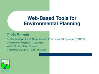 Web-Based Tools for Environmental Planning