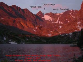 Navajo Snowfield to Dickers Peck to Navajo Peak (13,409') August 11, 2005