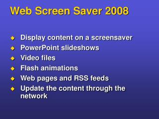 Web Screen Saver 2008