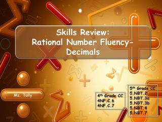 Skills Review: Rational Number Fluency- Decimals