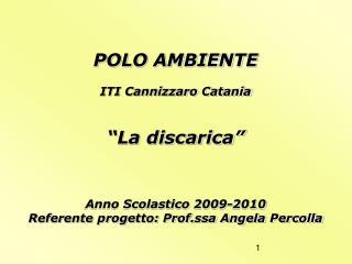 """POLO AMBIENTE ITI Cannizzaro Catania """"La discarica"""" Anno Scolastico 2009-2010"""