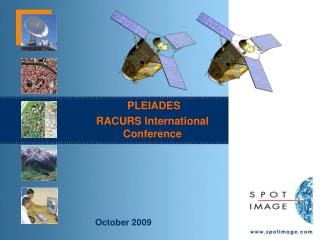 PLEIADES RACURS International Conference