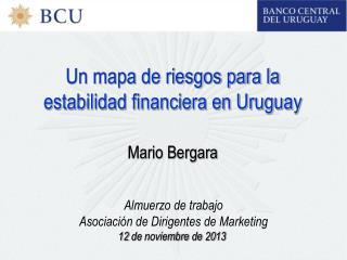 Un mapa de riesgos para la estabilidad financiera en Uruguay Mario Bergara