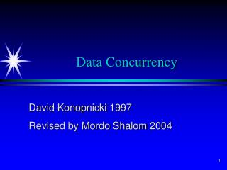 Data Concurrency