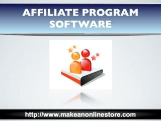 Affiliate Program Software