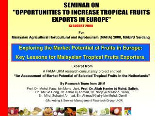 Prof. Dr. Mohd. Fauzi bin Mohd. Jani ,  Prof. Dr. Aliah Hanim bt Mohd. Salleh ,