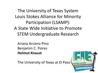 Ariana Arciero-Pino Benjamin C. Flores Helmut  Knaust The University of Texas at El Paso