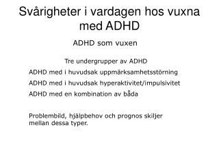 ADHD som vuxen