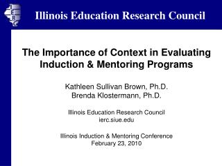 The Importance of Context in Evaluating Induction & Mentoring Programs