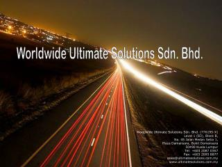 Worldwide Ultimate Solutions Sdn. Bhd.