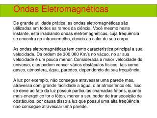 Ondas Eletromagn�ticas