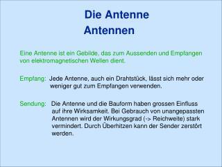 Die Antenne Antennen
