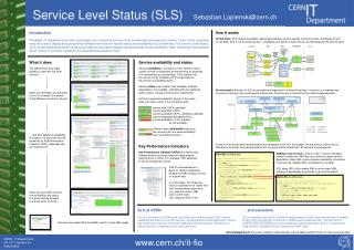 CERN - IT Department CH-1211 Genève 23 Switzerland