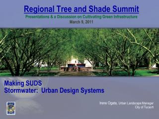 Making SUDS Stormwater :  Urban Design Systems