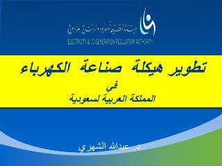تطوير هيكلة  صناعة  الكهرباء في المملكة العربية لسعودية