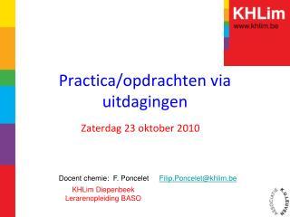 Practica/opdrachten via uitdagingen