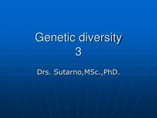 Genetic diversity 3
