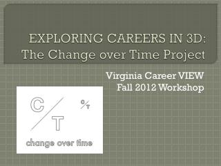 EXPLORING CAREERS IN 3D:  The Change over Time Project