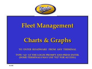 Fleet Management Charts & Graphs