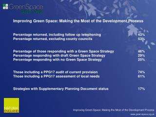 Improving Green Space: Making the Most of the Development Process