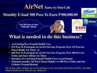 AirNet  Earn-As-You-Call