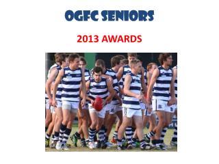 OGFC SENIORS 2013 AWARDS