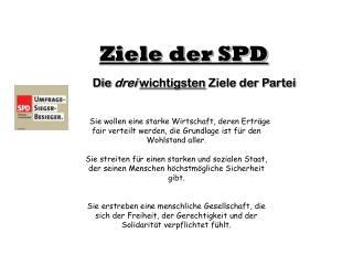 Ziele der SPD