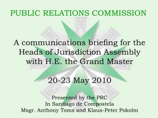 PUBLIC RELATIONS COMMISSION