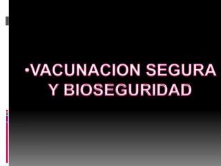 VACUNACION SEGURA Y BIOSEGURIDAD