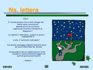 Ns. lettera