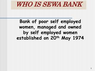 WHO IS SEWA BANK