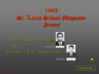 1962 St. Louis School Magazine Project