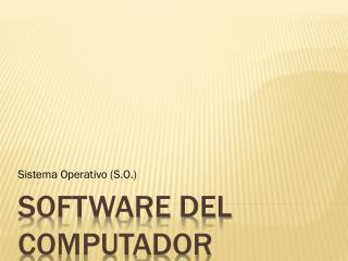 Software del Computador