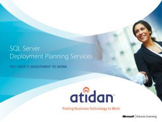 SQL Server Deployment Planning Services
