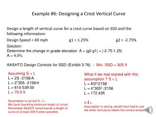 Example #6: Designing a Crest Vertical Curve