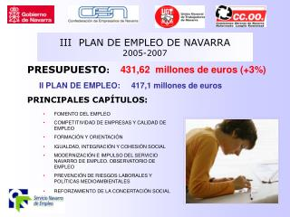 III  PLAN DE EMPLEO DE NAVARRA 2005-2007