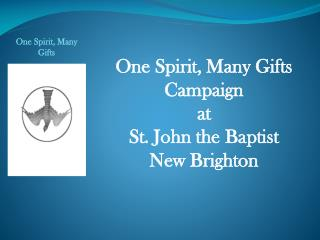 One Spirit, Many Gifts  Campaign at St. John the Baptist   New Brighton