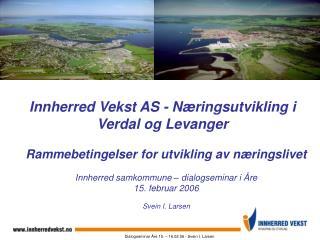 Innherred Vekst AS - Næringsutvikling i  Verdal og Levanger