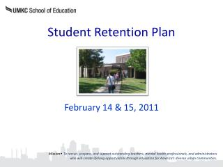 Student Retention Plan
