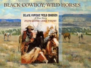 Black Cowboy Wild Horses