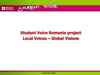Student Voice Romania project Local Voices – Global Visions