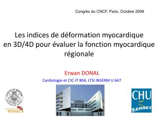Erwan DONAL Cardiologie et CIC-IT 804, LTSI INSERM U 647