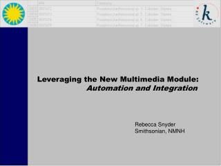 Leveraging the New Multimedia Module: Automation and Integration