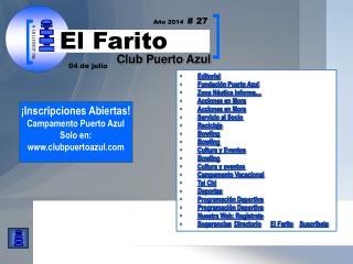 Editorial Fundación Puerto Azul  Zona Náutica Informa… Acciones en Mora Acciones en Mora