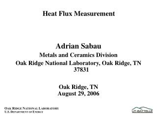 Heat Flux Measurement