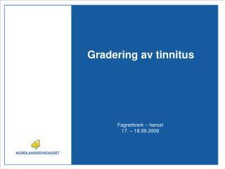 Gradering av tinnitus