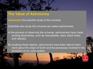 The Value of Astronomy