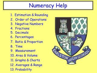 Numeracy Help