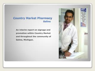 Country Market Pharmacy Saline